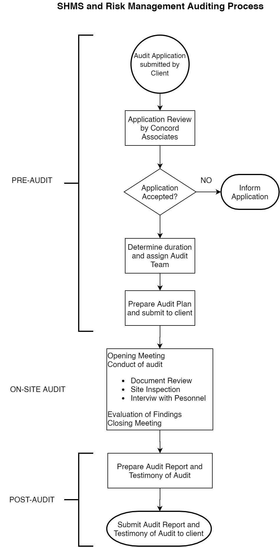 SHMS and Risk Management Auditing Process